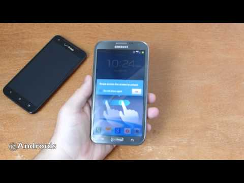 Verizon Galaxy Note II hands-on and DROID DNA camparison