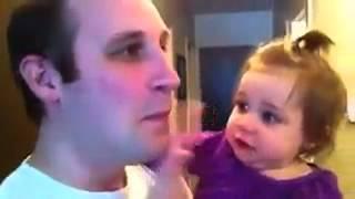 Bỏ râu, con gái ko nhận ra Cha nó :D p/s:Giờ e đã biết tại sao, cha nghèo nhiều đứa ko thèm nhận :)