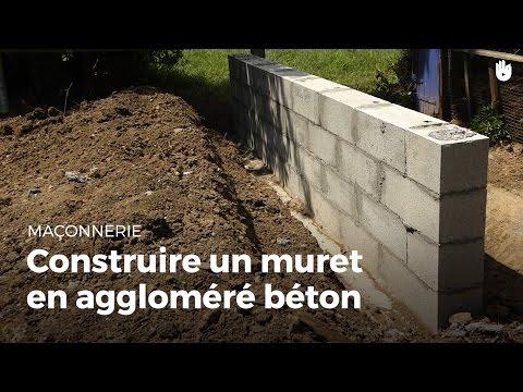 Construire Un Muret En Aggloméré Béton | Bricolage