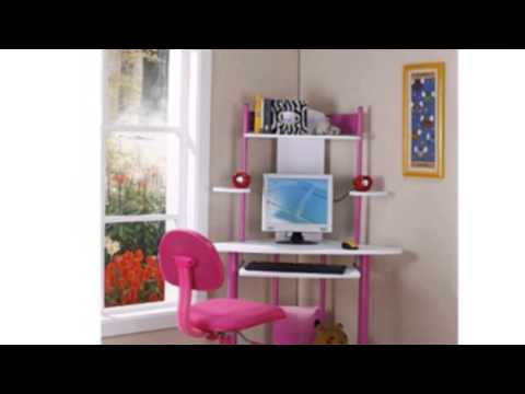 Video New  video for the Pink Finish Corner Workstation Kids Childrens