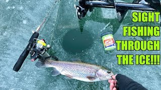 Video CRAZIEST Ice Fishing Day of my Life!!! (SIGHT-FISHING Through the Ice) MP3, 3GP, MP4, WEBM, AVI, FLV Januari 2019