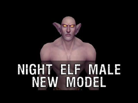 character - Night Elf Male Character New Model Preview - Warlords of Draenor.