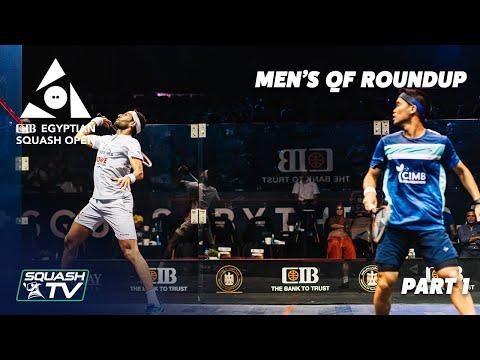 Squash: CIB Egyptian Open 2021 - Men's QF Roundup [Pt.1]