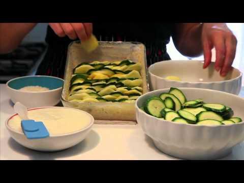 patate e zucchine al gratin - ricetta