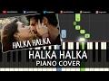 Halka Halka Raees|Shah Rukh Khan|Hindi Song|Piano Chord Tutorial Instrumental Karaoke By Ganesh Kini