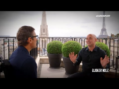 Andre Agassi Interview with Mats Wilander - RG 2017 (HD)