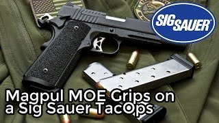 Magpul MOE 1911 Grips on a Sig Sauer 1911 TacOps