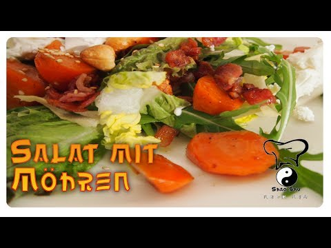 Salat mit geschmorten Möhren