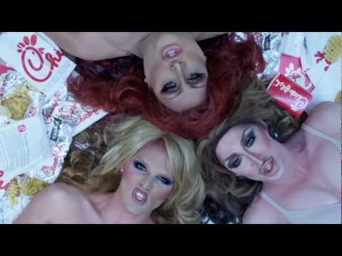 chick - If drag queens endorse Christian-right owned Chick-fil-A, is it still an endorsement? NOPE. BUY NOW! http://itunes.apple.com/us/album/chow-down-feat.-vicky-v...