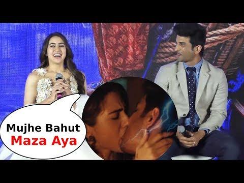 Sara ali khan and sushant singh reveals their kissing* scene in Kedarnath movie
