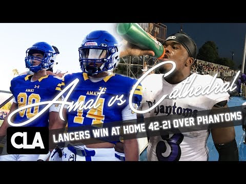 Bishop Amat vs Cathedral Official HS Football Mixtape: Lancers Win 42-21 @SportsRecruits Highlights