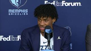Memphis Grizzlies Introduce #2 Overall Pick Ja Morant by NBA