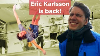 Eric Karlsson is back to REACT to his own videos! by Bouldering Bobat
