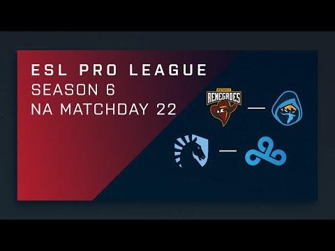 CS:GO: Renegades vs. Rogue | Liquid vs. Cloud9 - Day 22 - ESL Pro League Season 6 - NA Main