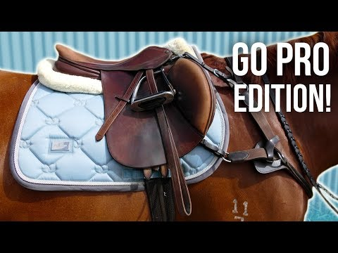 GROOM, TACK UP + RIDE WITH ME | GoPro show jumping edition