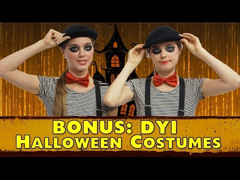 homemade - We have a video on AwesomenessTV showing how to make 3 easy, inexpensive Halloween costumes! Here are 3 more! Hope you enjoy! :) Please LIKE and SUBSCRIBE! :) FACEBOOK: ...