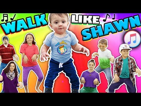 ♫ WALK LIKE SHAWN ♫ Music Video For Kids ♬ Dance Song