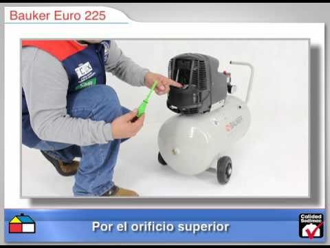 Compresor de aire EURO 225 25L Bauker SKU: 132547-7.