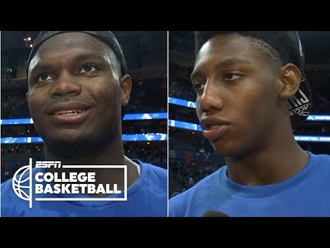 Zion Williamson, RJ Barrett came to Duke to win titles   College Basketball