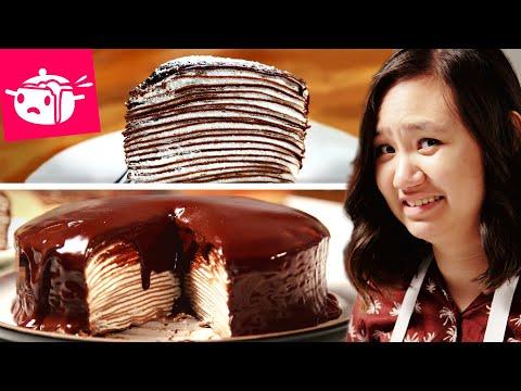I Tried To Make This Chocolate Crepe Cake (видео)