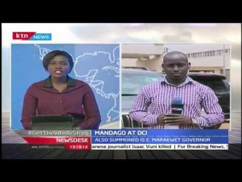 Governor Jackson Mandago and Alex Tolgos appeared at the DCI over demonstrations calling for the rem