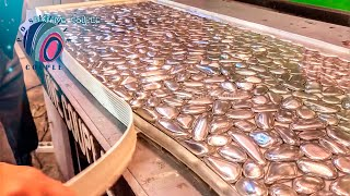 Video Quilted Chest of Drawers. Table Top made of Foil, Pebbles and Epoxy. Комод с Фольгой и Эпоксидкой. MP3, 3GP, MP4, WEBM, AVI, FLV Desember 2018