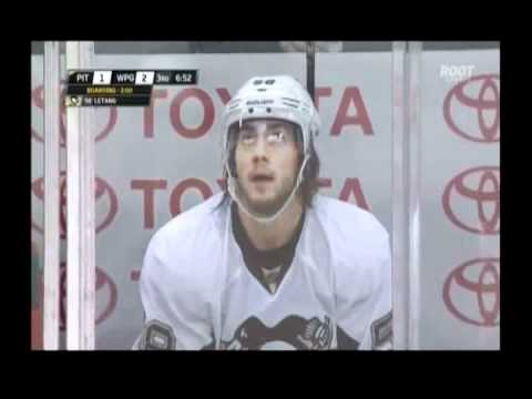 Kris Letang's boarding call on Burmistrov      - YouTube