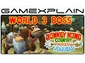 Donkey Kong Country: Tropical Freeze - World 3 Boss Fight Playthrough (Japanese Version)