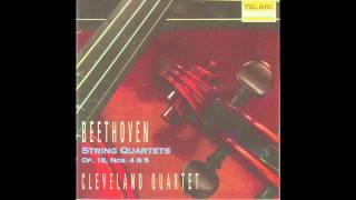 Download Lagu Cleveland Quartet - Beethoven Quartet in C Minor, Op. 18, No. 4 Mp3