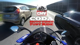 10. YAMAHA YZF-R6 2017 ABS vs highway traffic + Akrapovic exhaust sound - test ride - CMV