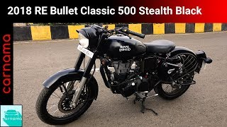 8. 2018 Royal Enfield Bullet Classic 500 Stealth Black Edition | carnama