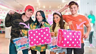 Shopping for our Boyfriends at Girly Stores Challenge 🎀 by Niki and Gabi