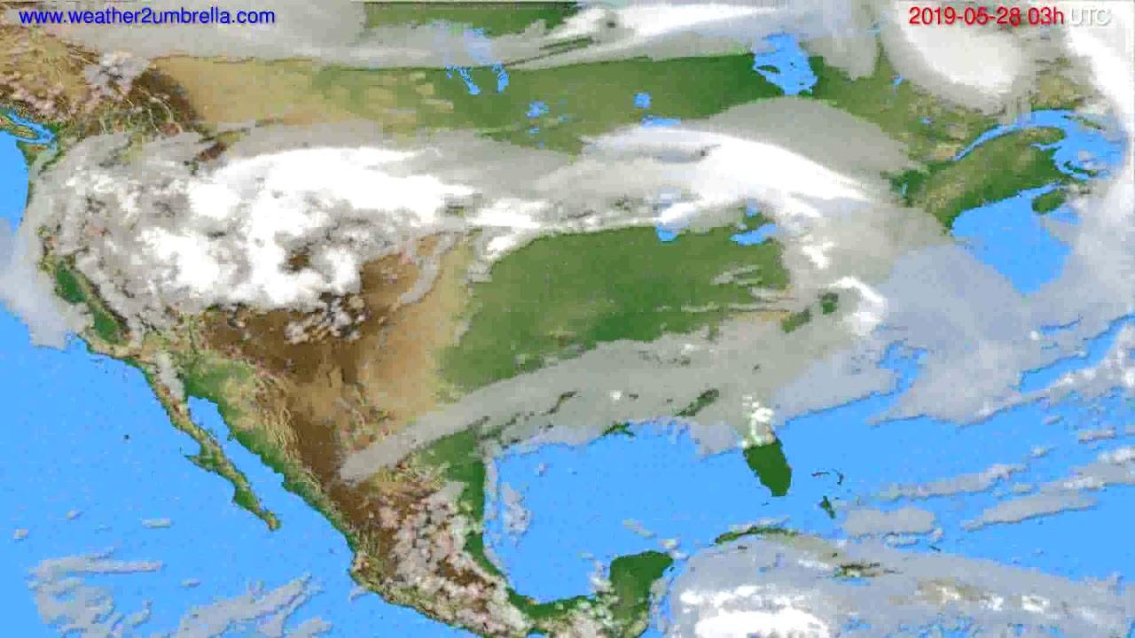 Cloud forecast USA & Canada // modelrun: 00h UTC 2019-05-25