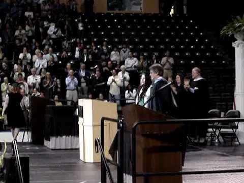 Colleen Winona singing the National Anthem Henry M Jackson Mill Creek, WA 2010 Graduation 023.mpg