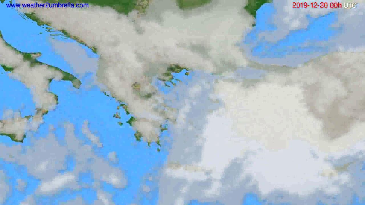 Cloud forecast Greece // modelrun: 00h UTC 2019-12-29
