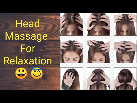 How to do head massage, head massga कैसे करे।