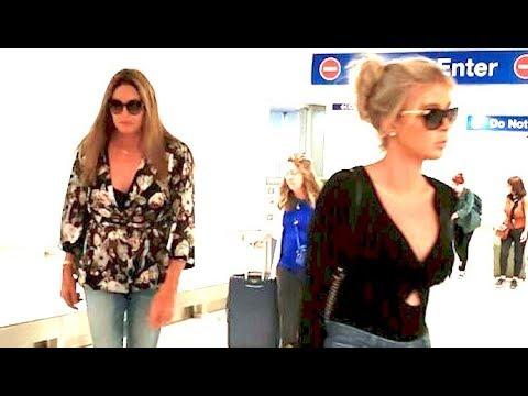 Caitlyn Jenner Returns To LA With Girlfriend Sophia Hutchins