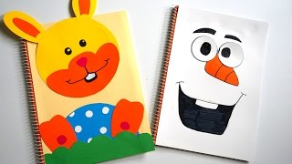 Welcome! Thank You for watching! we hope you enjoyed!How to make easy Frozen Olaf Snowman & Easter Bunny individual Notebook coverPlease Sub & LIKE!!!