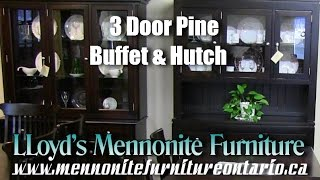 Mennonite Pine 3 Door Buffet and Hutch