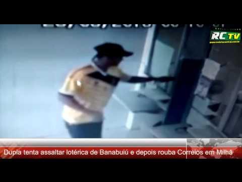 Dupla tenta assaltar lotérica de Banabuiú e depois rouba Correios em Milhã