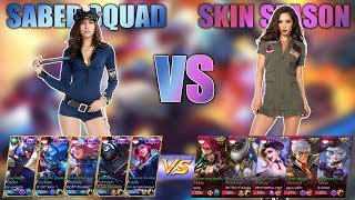 Video SKIN SQUAD SABER VS SKIN SEASON // KEREN PARAH..!! MP3, 3GP, MP4, WEBM, AVI, FLV Juli 2018