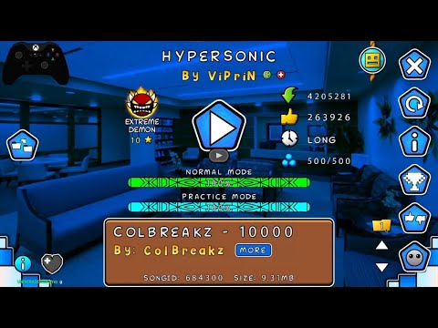 Hypersonic by Viprin 100% [ON STREAM]   extreme demon (Geometry Dash)