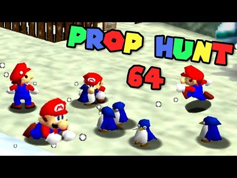 PROP HUNT 64 ONLINE #2 - WHICH PENGUIN!? - ft. Nathaniel Bandy, Nintendrew + More! [MINUS WORLD]