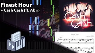 Finest Hour (feat. Abir) - Cash Cash [Piano Tutorial] (Synthesia) // Pianobin + Sheets/Midi