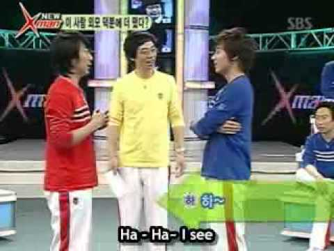 haha - Haha vs Shinhwa's Andy in the poem battle (Samhaengshi) on the new Xman. each competitor must compose poems, in which each line starts with a letter in the o...