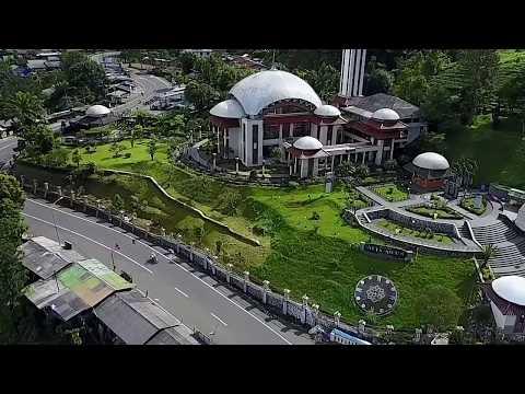 Masjid At Ta'awun Puncak, Bogor. Aerial Video