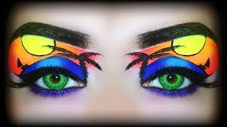 Summer 2014 Makeup Tutorial - Tropical Sunset (Exotic NEON Makeup) - YouTube
