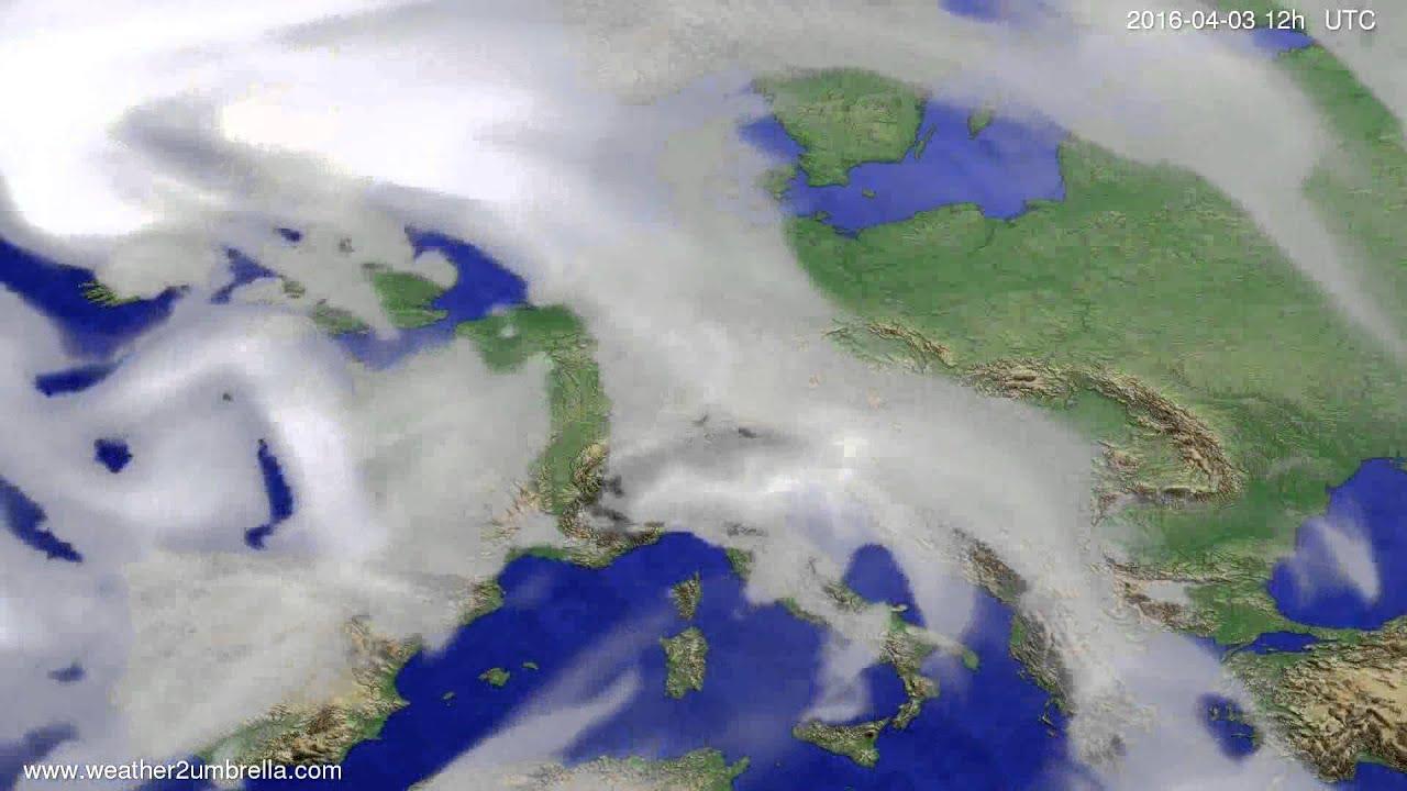 Cloud forecast Europe 2016-03-30