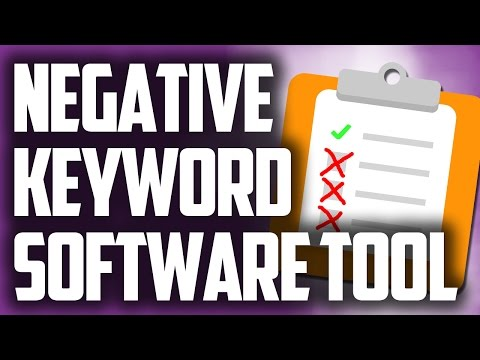 Simple Google Adwords Negative Keyword Tool