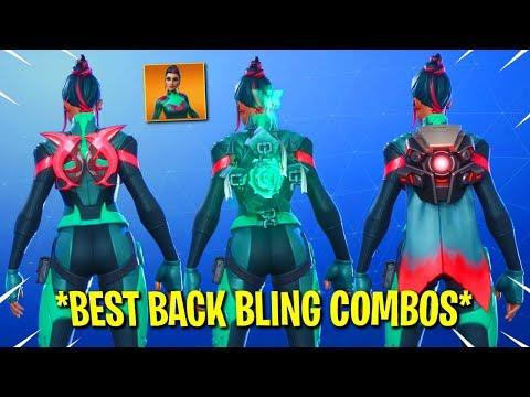 Fortnite Season 9 *NEW* SINGULARITY SKIN TOP 10 BEST BACK BLING COMBOS!!!